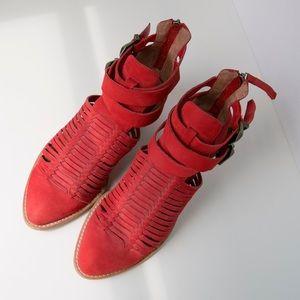 Jeffrey Campbell Stinson Cutout Ankle Boots